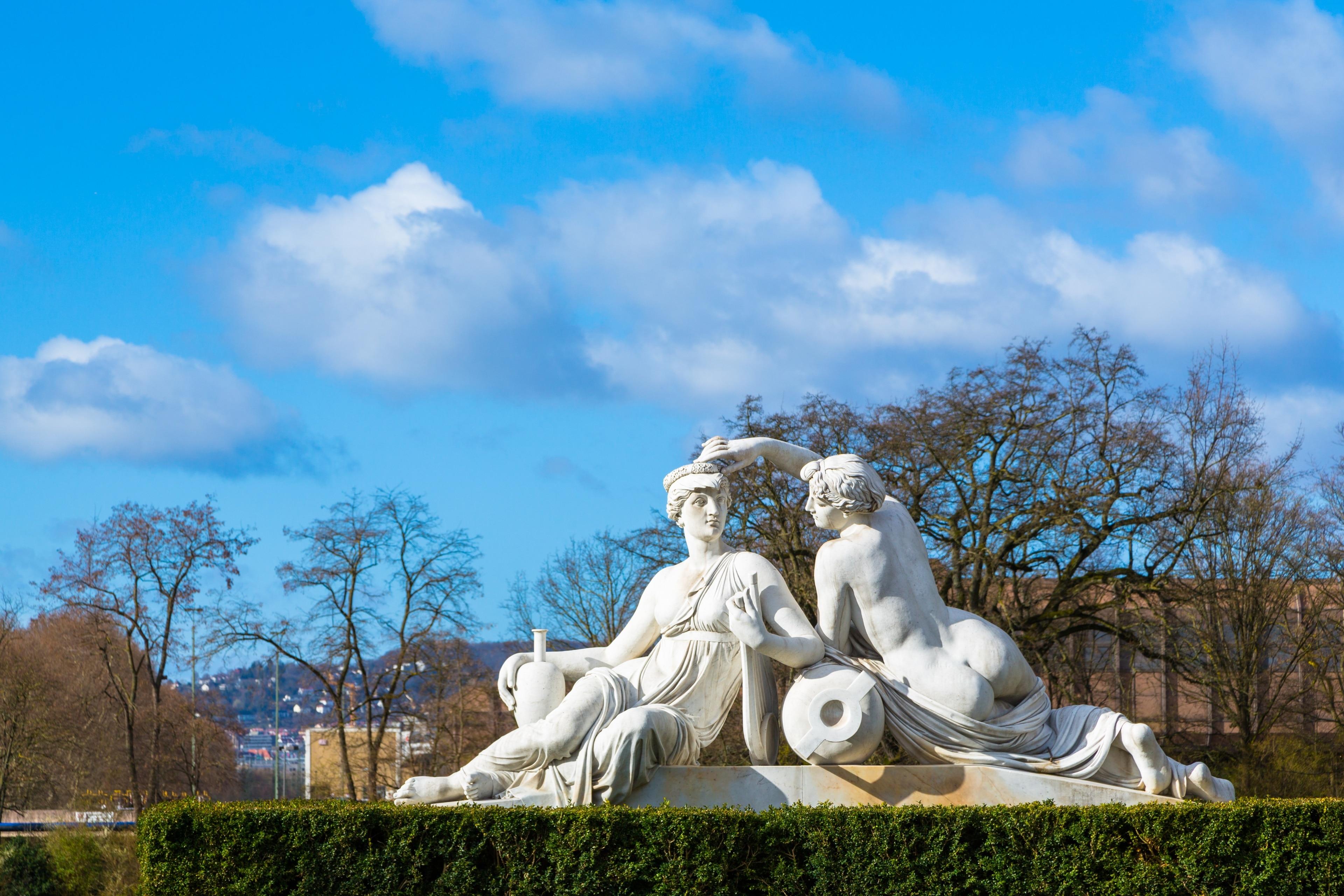Rosensteinpark, Stuttgart, Baden-Württemberg, Deutschland