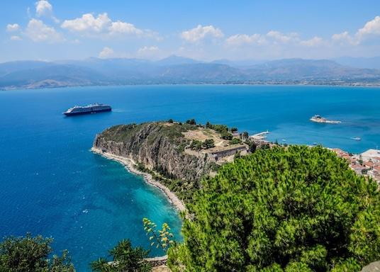 Nafplio bysentrum, Hellas