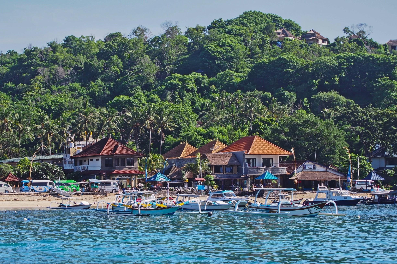 Strand von Padang Bai, Padangbai, Bali, Indonesien