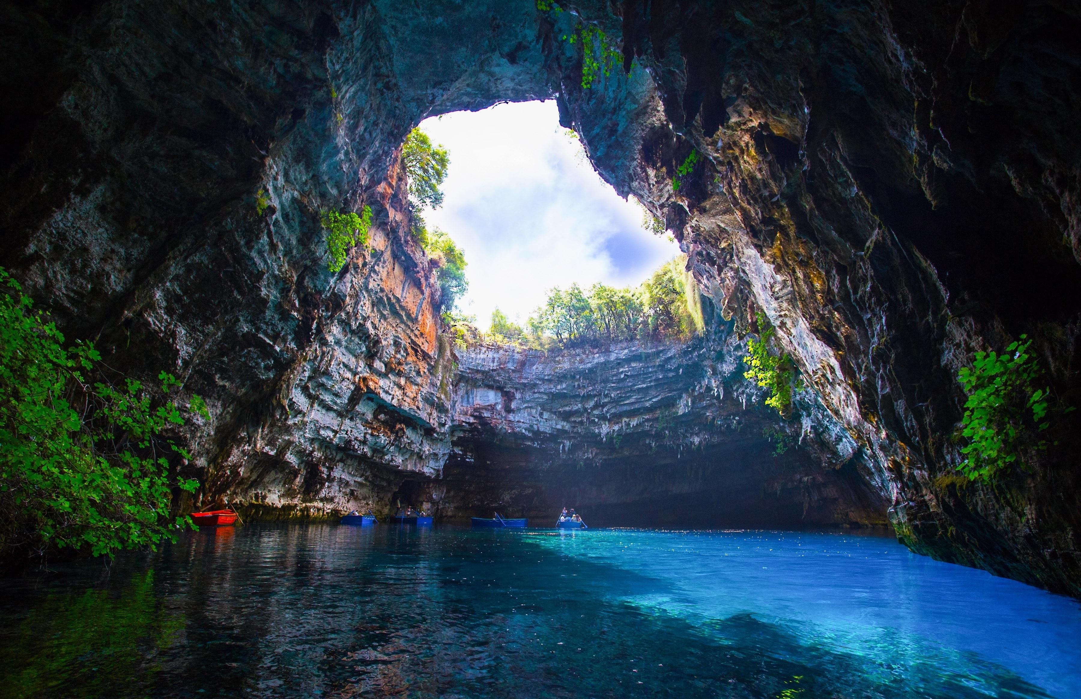 Melissani Cave Lake, Kefalonia, Ionian Islands Region, Greece