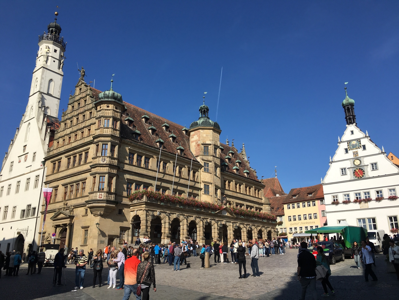 Stadtmauer von Rothenburg, Rothenburg ob der Tauber, Bayern, Deutschland