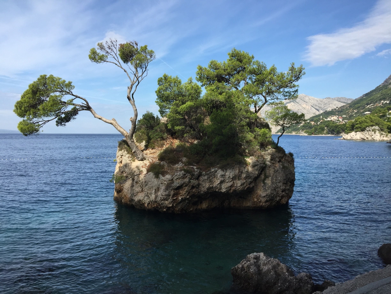 Brela-Felsen, Brela, Split-Dalmatien, Kroatien