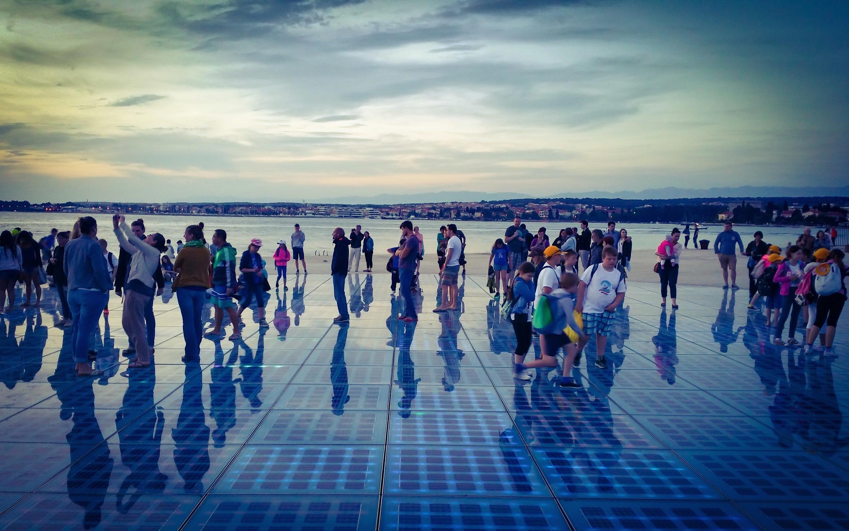 Gruß an die Sonne, Zadar, Zadar, Kroatien