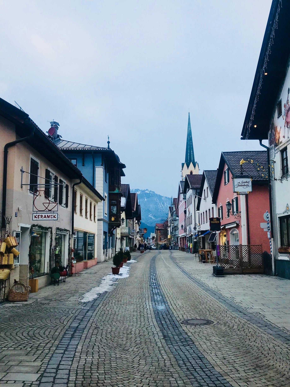 Ludwigstraße, Garmisch-Partenkirchen, Bayern, Deutschland