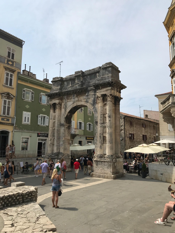 Sergierbogen, Pula, Istrien (Bezirk), Kroatien