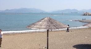 만성리 검은모래해변