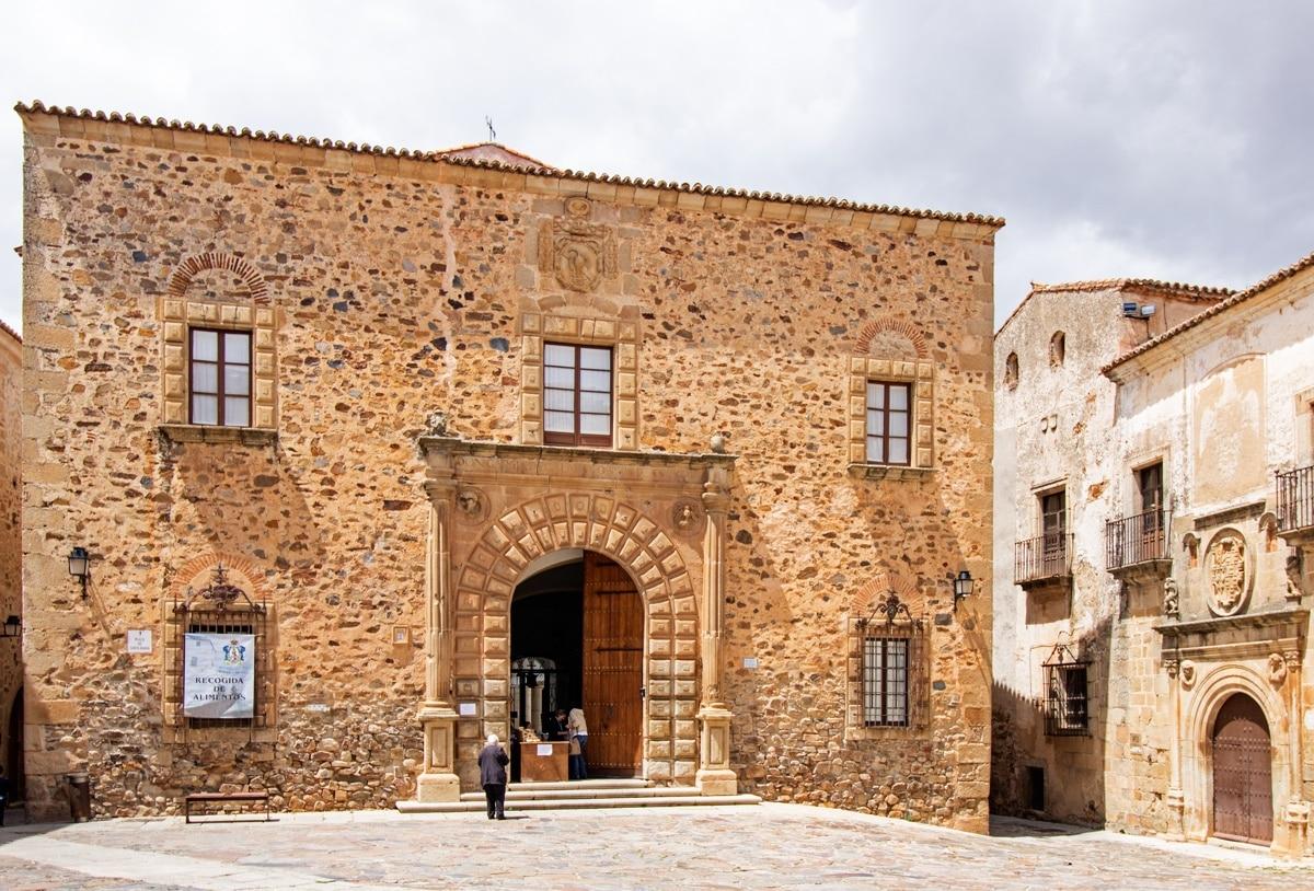 Palacio Episcopal de Cáceres, Cáceres, Extremadura, Spanien