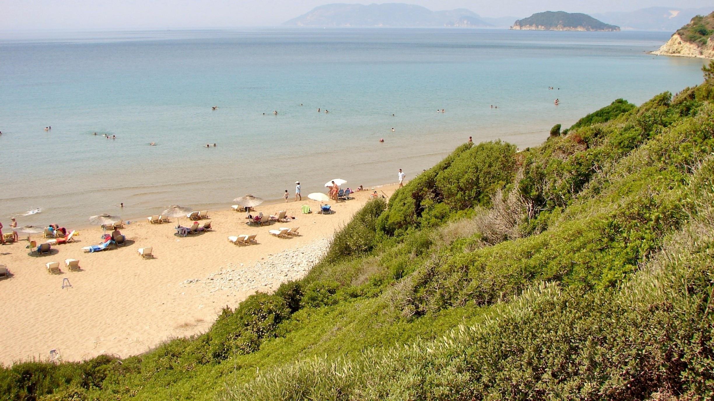 Strand van Gerakas, Zakynthos, Regio van de Ionische Eilanden, Griekenland
