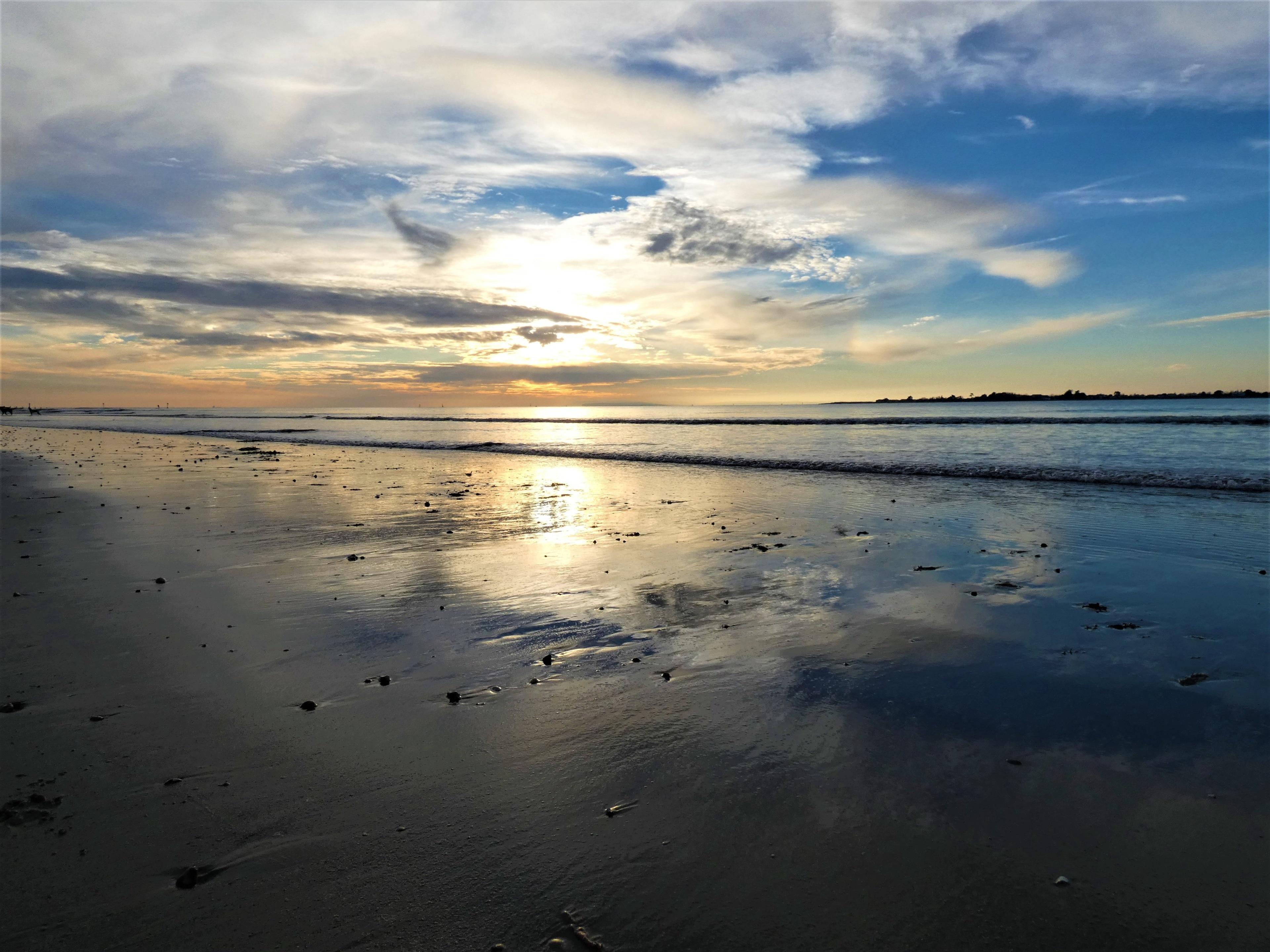 West Wittering Beach, Chichester, Engeland, Verenigd Koninkrijk