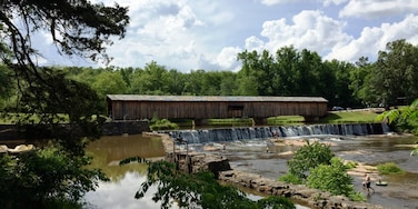 Not many of these old bridges are still around. This one is in excellent condition. Great place to go play in the water and picnic.