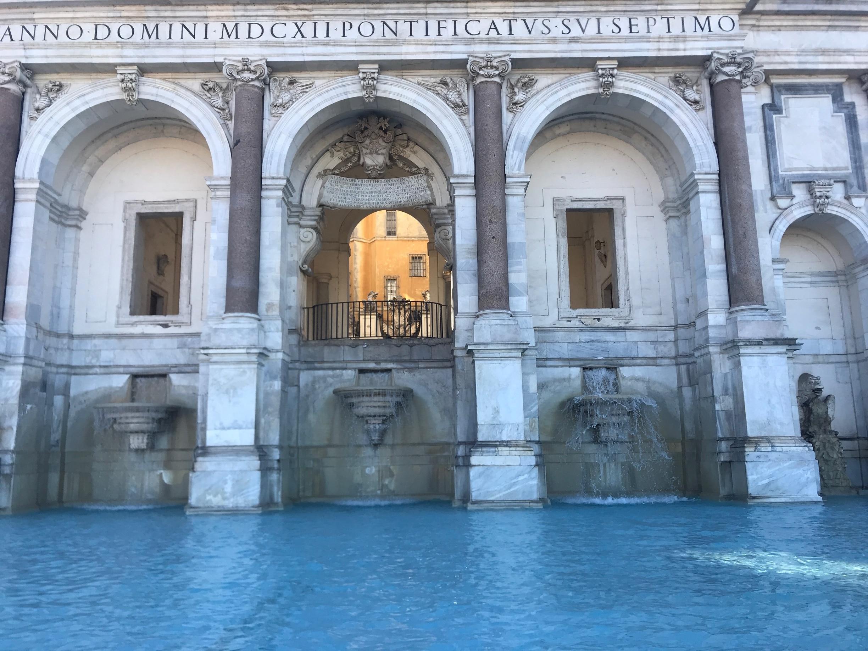 Fontana dell'Acqua Paola, Rom, Lazio, Italien