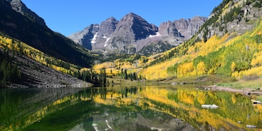 From a hiking trip last fall!  <3 Colorado.  While this is not the most difficult hike, the views are absolutely spectacular especially when the Aspens are changing color.  Early morning is the best time to go to get beautiful lake reflections.  #Aspen