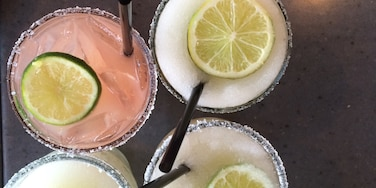 Good margaritas and outdoor patio seating.