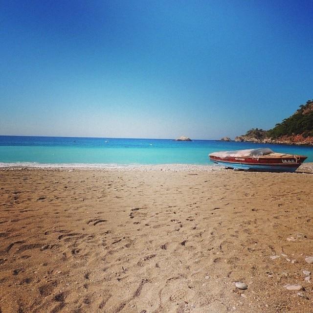 Strand von Kabak, Fethiye, Muğla, Türkei