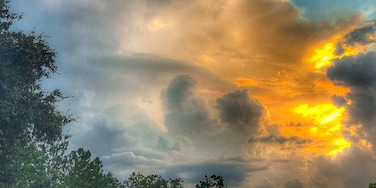 No matter where you go in Florida there are always spectacular sunsets in the summertime. This was taken during an afternoon storm rolling in. The beautiful sunset mixed with the lightning and thunder made for a spectacular evening just watching nature at her best!  #sunset # Florida #outdoors #nature