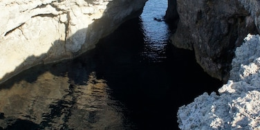 A cave/hole in the ground on the northern tip of Malta, very close to Armier bay.  #ocean #caves #localgem #roadtrip
