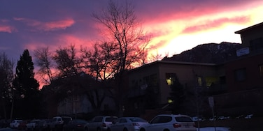 A nice silhouette of the flatirons at sunset