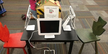 The Maribelle Davis Library has upgraded their iPads for kids to browse! Neat idea!