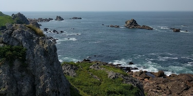 Check out the trails and the views. There are also rock beaches in the area.