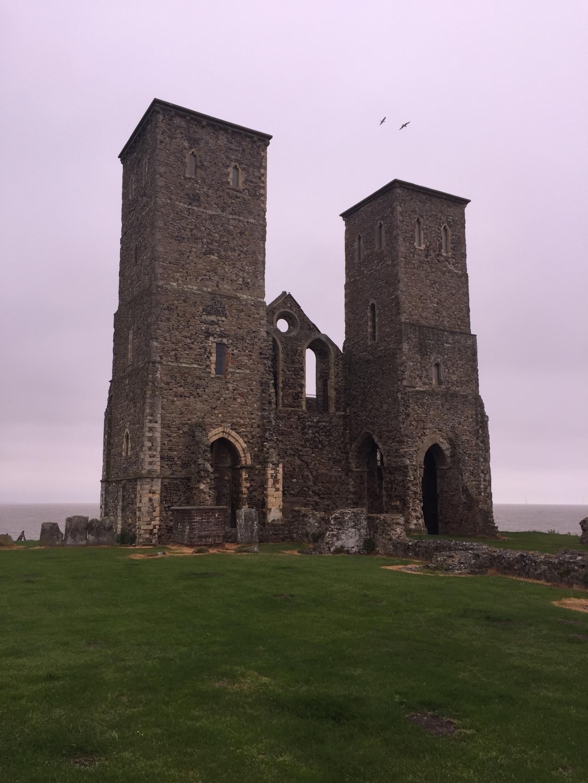 Reculver Towers, Herne Bay, England, Großbritannien