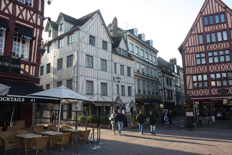 Place du Vieux-Marche, Rouen, Seine-Maritime (departement), Frankrijk