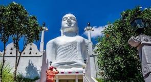 Temple bouddhiste et stade de bouddha Bahirawakanda