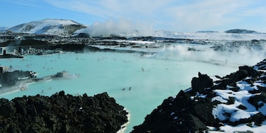 The Blue Lagoon is a geothermal hot spring in Iceland.  What a relaxing place with a beautiful view! #waterlust