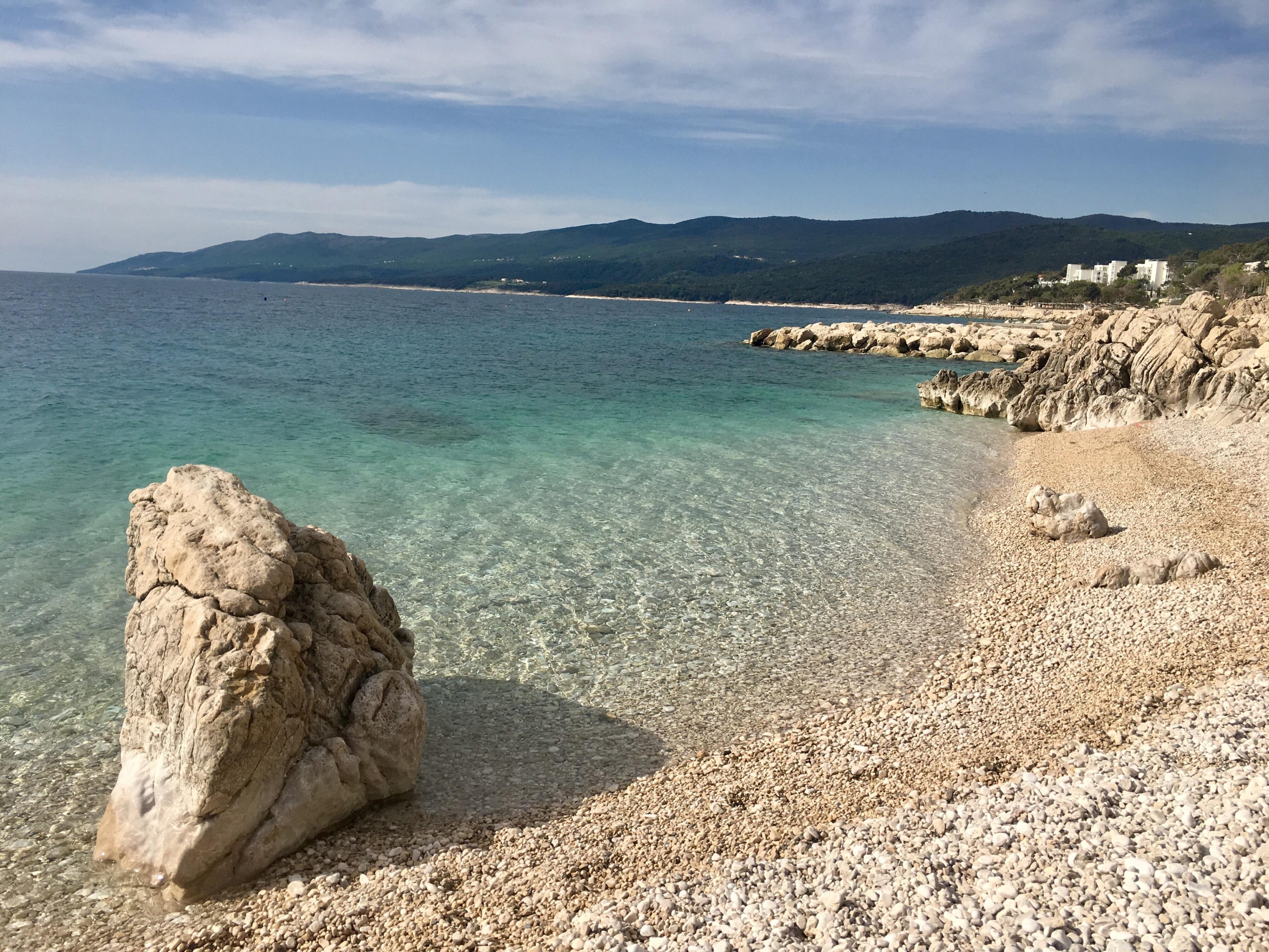 Strand Girandella, Labin, Istrien (Bezirk), Kroatien