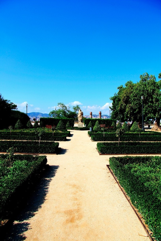 Jardins de Mossèn Costa i Llobera, Barcelona, Katalonien, Spanien