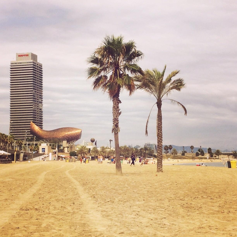 Somorrostro Beach, Barcelona, Catalonia, Spain