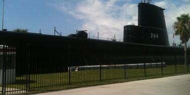 WWII  submarine dry docked