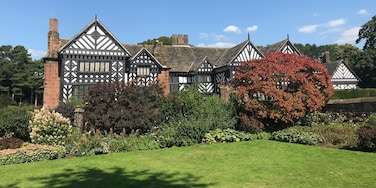 Speke Hall. Right on the boundary of Liverpool Airport