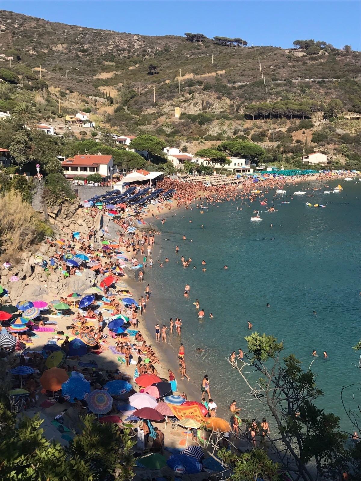 Strand von Cavoli, Campo nell'Elba, Toskana, Italien