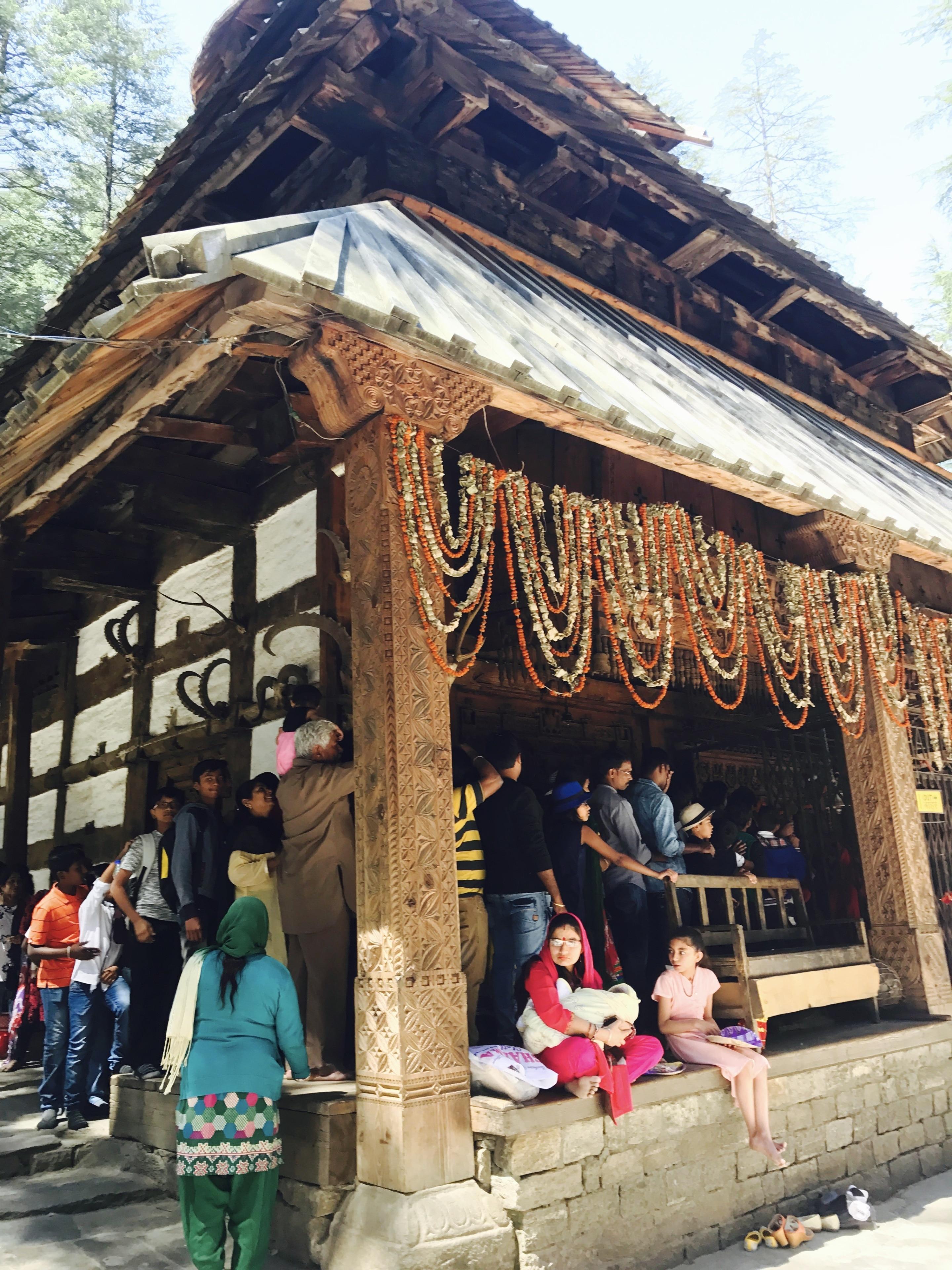 Tempel Hadimba Devi, Manali, Himachal Pradesh, Indien