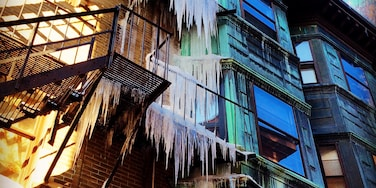 Sometimes winter is terrifying after lots of #snow and ice #iciclesofdeath #architecture #Bestof5 #WinterWonders