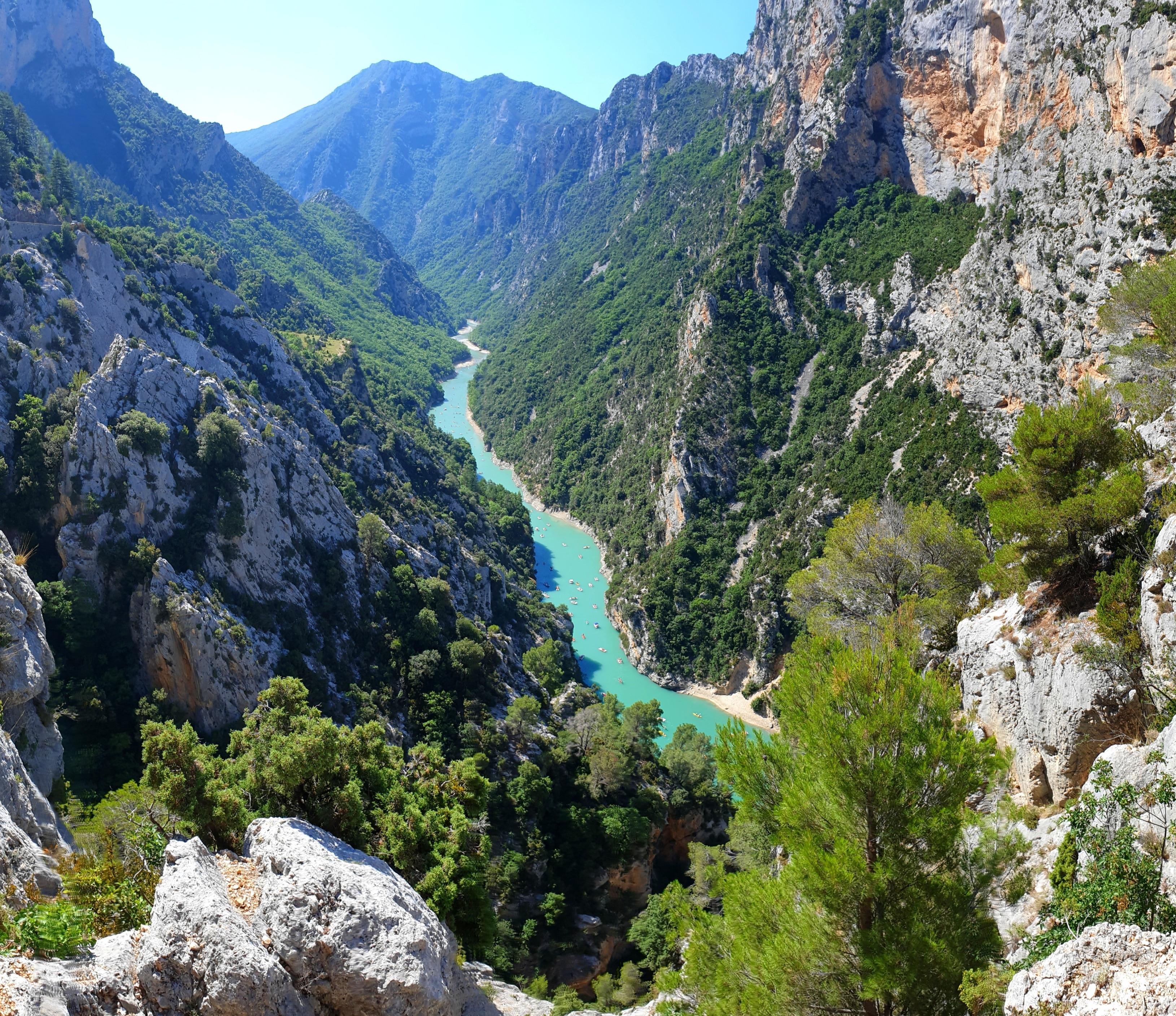 Verdonschlucht, La Palud-sur-Verdon, Département Alpes-de-Haute-Provence, Frankreich