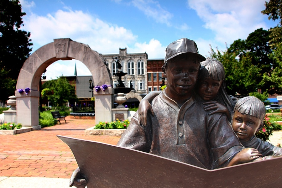 Fountain Square Park, Bowling Green, Kentucky, USA