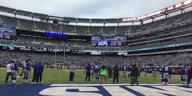 My view of the Giants game at MetLife. They won!
