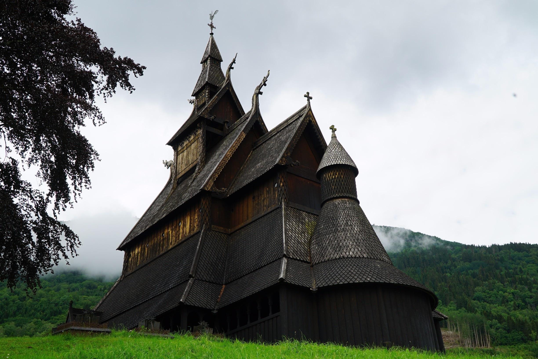 Hopperstad Stave kerk, Vik, Vestland, Noorwegen