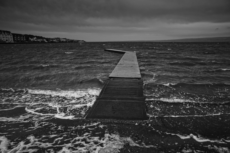 West Kirby Marine Lake, Wirral, England, Großbritannien