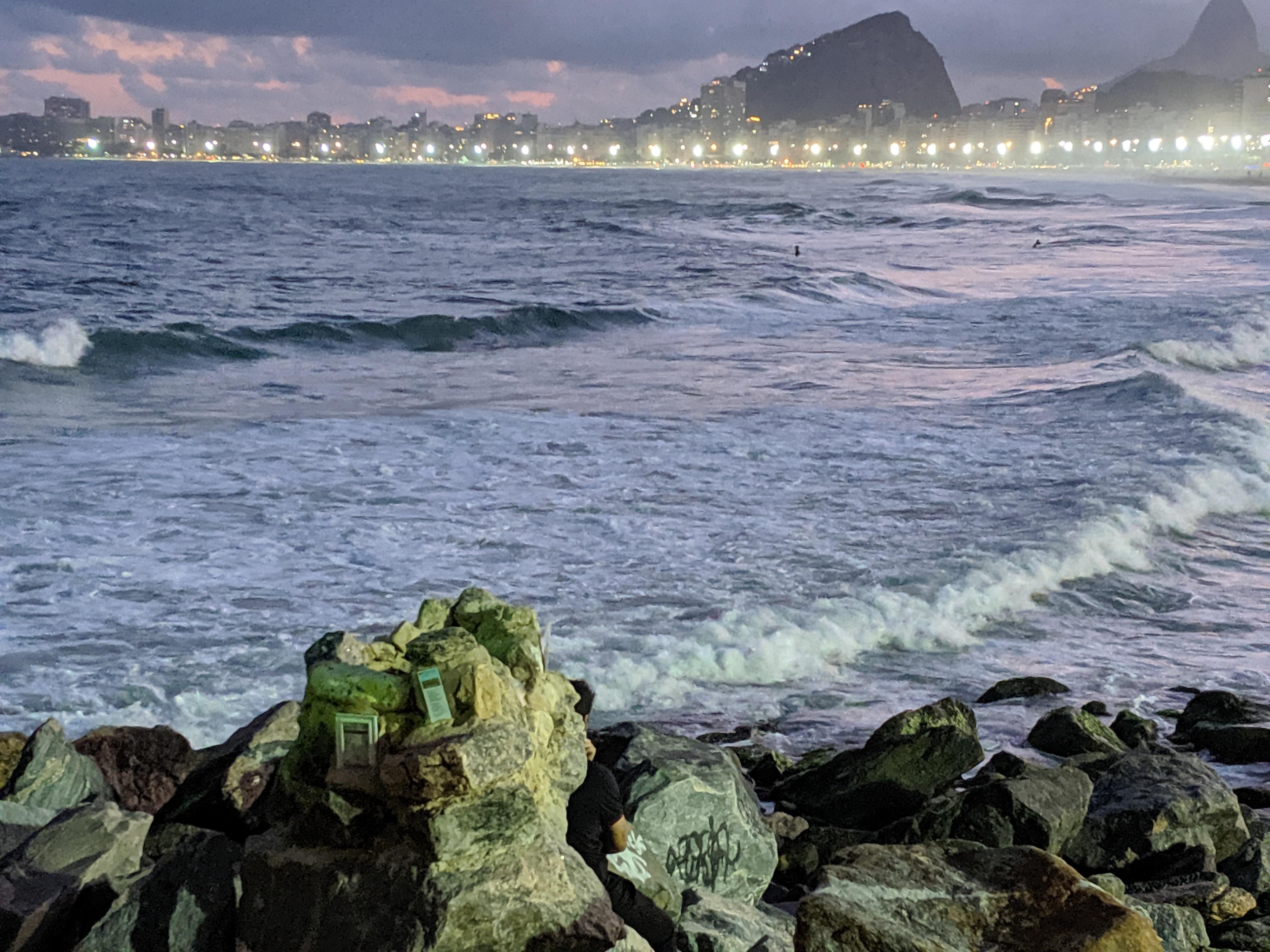 Praia do Leme (Strand), Rio de Janeiro, Bundesstaat Rio de Janeiro, Brasilien