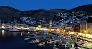 Hydra Town Harbour
