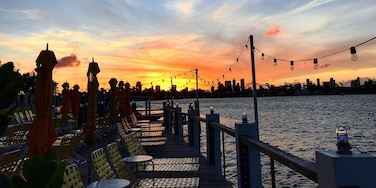 One of the best spots for sunsets in Miami at the Standard Hotel!