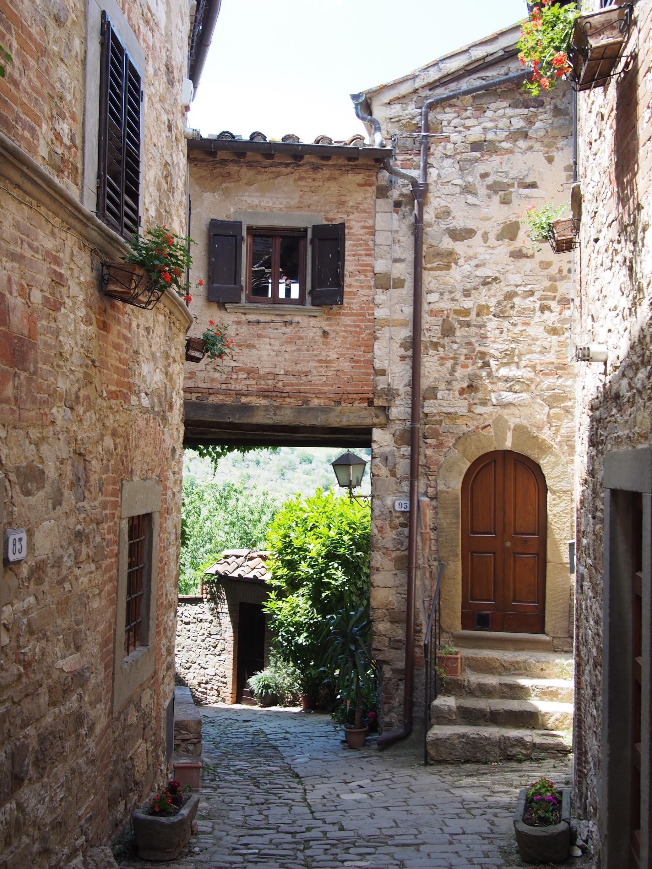 Montefioralle, Greve in Chianti, Toskana, Italien