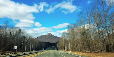 Nothing like the open road or an iconic mountain against a #blue winter sky. Hello, North Carolina.