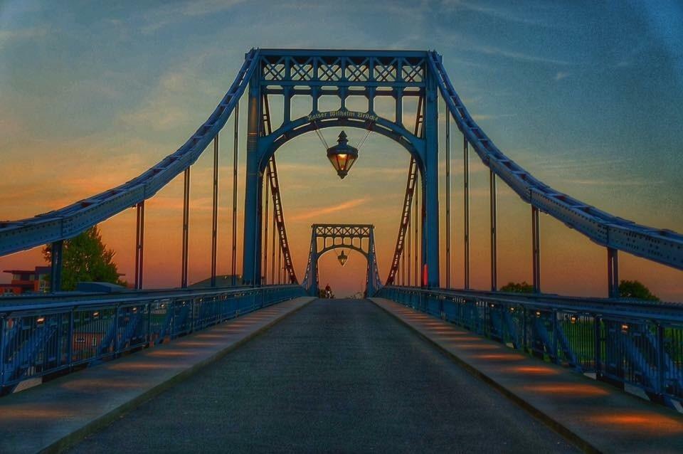 Kaiser-Wilhelm-Brücke, Wilhelmshaven, Nedersaksen, Duitsland