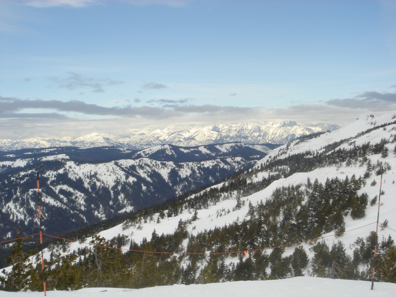 Mission Ridge Skigebiet, Wenatchee, Washington, USA