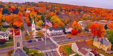 A beautiful aerial view of the center of my hometown, an idyllic  country town in Fairfield County, CT. Now known worldwide for the tragedy of Sandy Hook, we who grew up there want to always show our town for what it always should have been...a great place to grow up! Thanks, Mike, for capturing its essence so well!