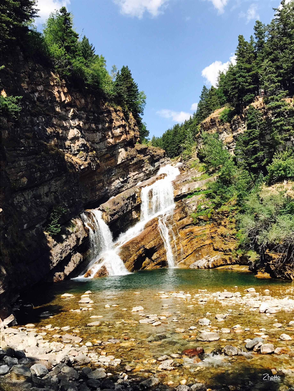Cameron Falls, Waterton Park, Alberta, Kanada