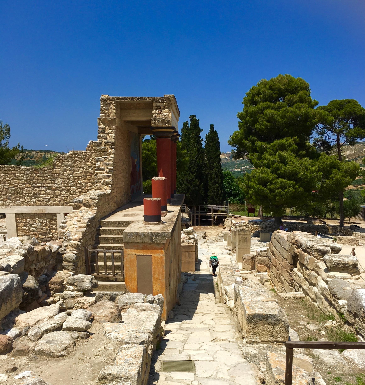 Knossos Archaeological Site, Heraklion, Crete, Greece